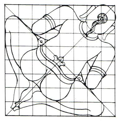 Representação de Vastu Purusha manifestando-se como energia sutil (7)