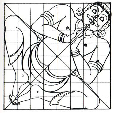 Representação de Vaastu Purusha, ilustrado como energia sutil da Terra (7)